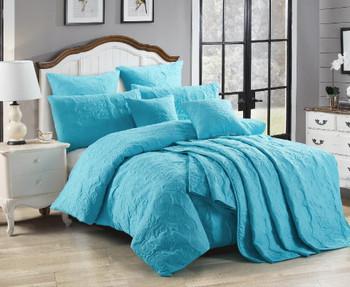 Peacock Blue Marguerite European Pillowcase