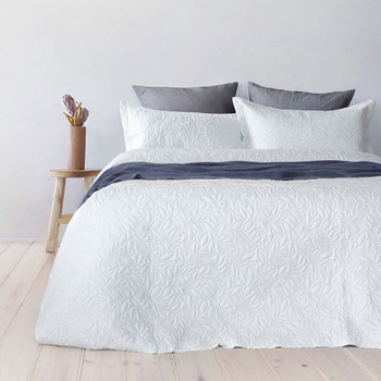 White Botanica Coverlet
