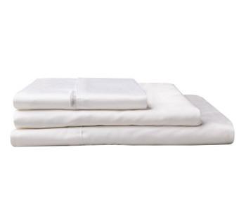 White Split King (2 Long Single Beds ) 5 Pce Sheet Set Egyptian Cotton