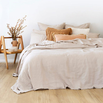 French Flax Pebble Quilt Cover Set