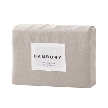 Bambury French Flax Linen Pebble Sheet Set