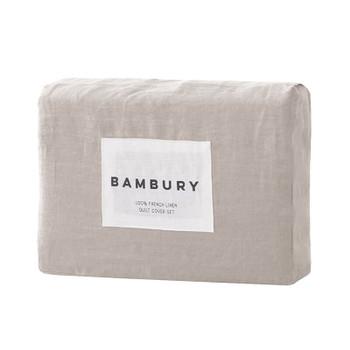 Bambury French Flax Linen Pebble Sheet Set