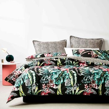 Etta Black quilt Cover Set