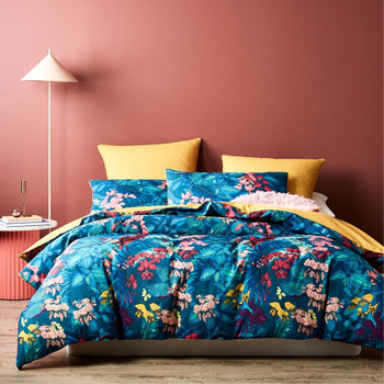 Amazon Teal Quilt Cover Set
