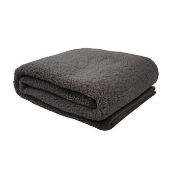 Carob Teddy Throw Rug