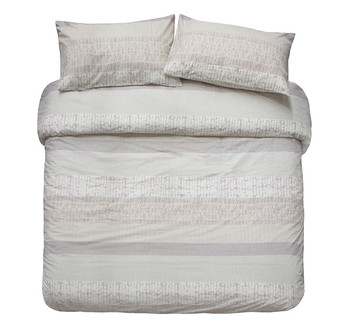 Darlington Sand King Single Quilt Cover Set from Bambury