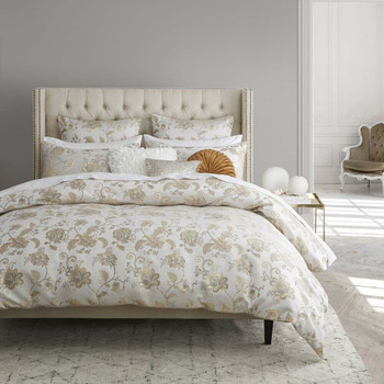 Oriana Champagne Quilt Cover Set