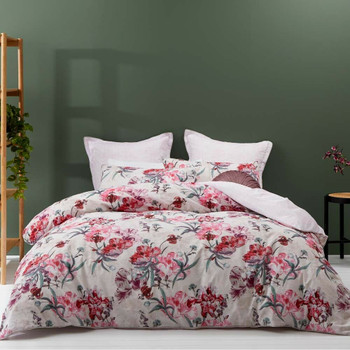 Clara Pink Quilt Cover Set