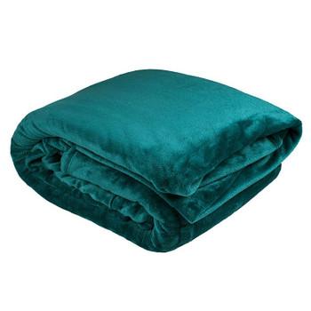 Bambury Ultraplush Teal Blanket