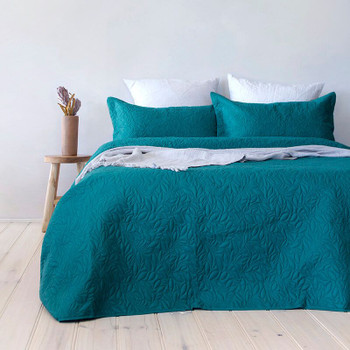 Botanica Teal Coverlet