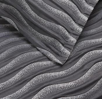 Linea Black Quilt Cover Set