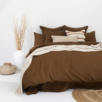 Hazel French Flax Quilt Cover Set