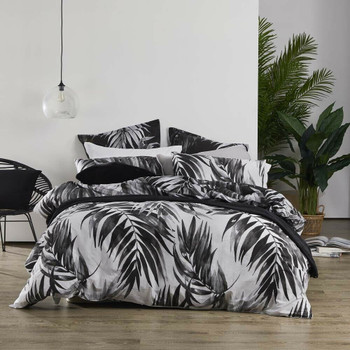 Cayman Charcoal Quilt Cover Set