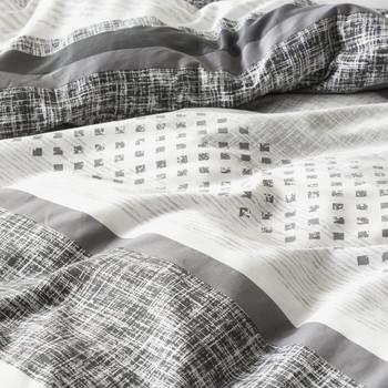 Saxon Charcoal Quilt Cover Set