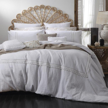 Amirah White Quilt Cover Set