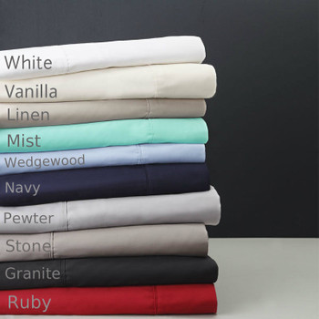 Long Single Fitted Sheet Deep 50cm Wall  400TC Egyptian Cotton