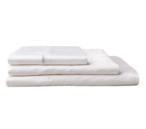 Logan & Mason Super King Fitted Sheet 60cm Deep Wall - White