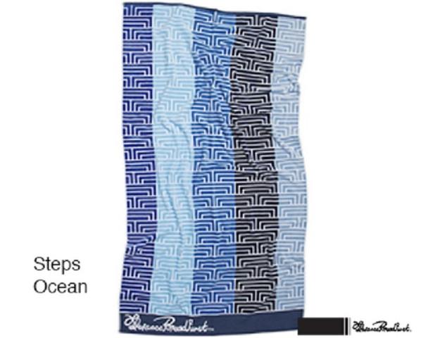 Steps Ocean Beach Towel by Florence Broadhurst