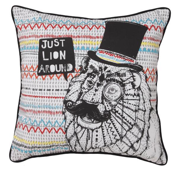 Logan & Mason Boys Leo Lion Cushion