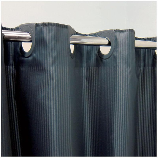 Charcoal Shower Curtain with Self Stripe