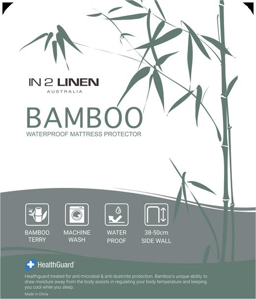 In 2 Linen Bamboo Waterproof Mattress Protector
