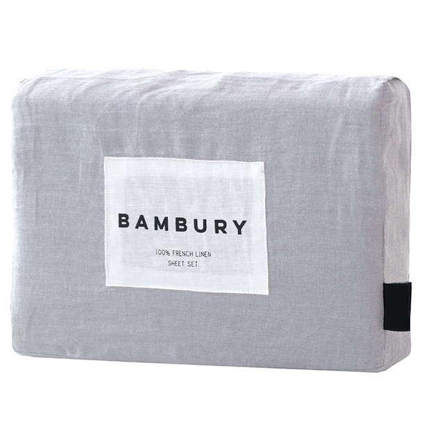 Silver French Flax Sheet Set