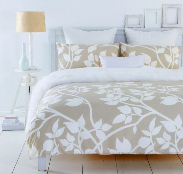 Madison Taupe Quilt Cover Set