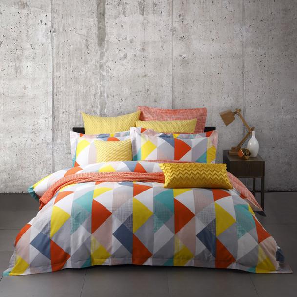 Lloyd Orange Quilt Cover Set