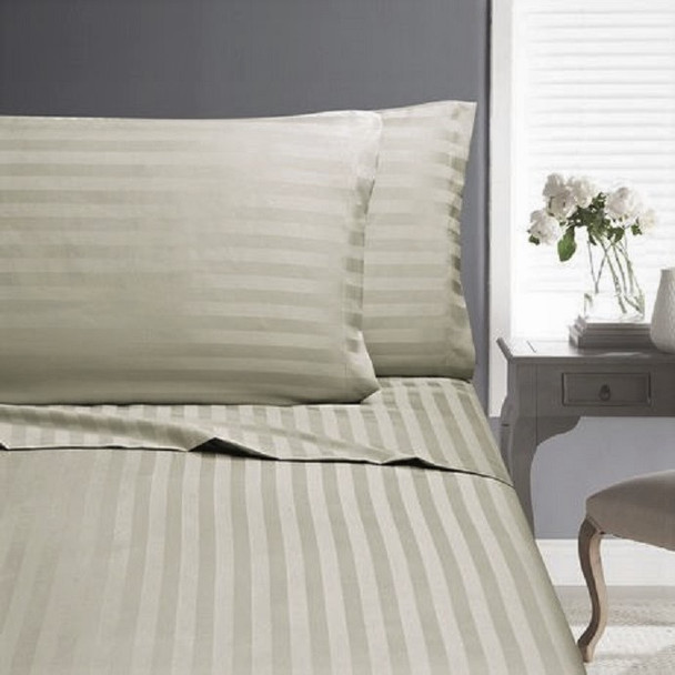 In 2 Linen Linen Self Stripe Sheet Set
