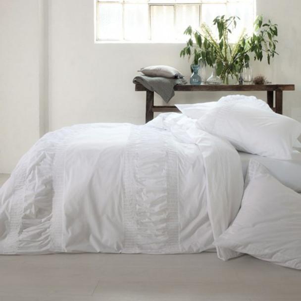 Simplicity White Quilt Cover Set
