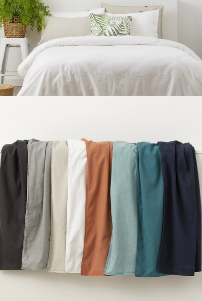 In 2 Linen Stone Washed Quilt Cover Sets