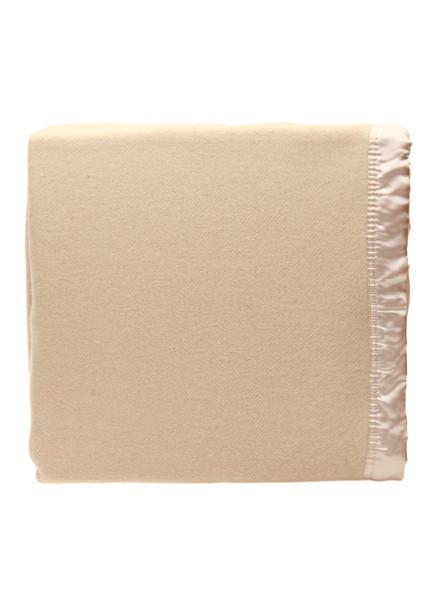 Light Mocha / Latte Woollen Blanket
