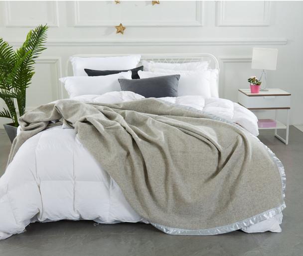 Grey Herringbone Blanket