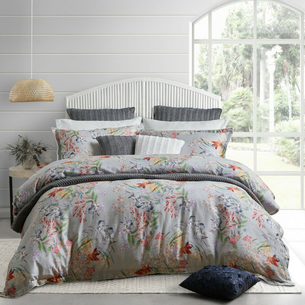 Yasmine Silver Quilt Cover Set