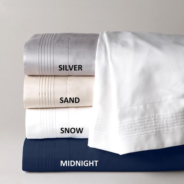 White King Size Sheet Set 500 TC Cotton - Private Collection