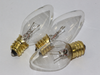 3 x 12V 3W 0.25A E12 Clear Christmas Lights Spare Bulbs  Pifco Dencon 795WC