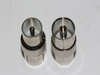 10 x Male to Female Coax Coaxial Aerial Adaptors Silver / Nickel Plated