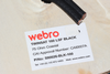 5m of Black Webro WF100 Twin Satellite Cable With 4 x F Plugs, Free Cable Clips