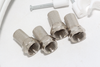 5m of White Webro WF100 Twin Satellite Cable With 4 x F Plugs, Free Cable Clips