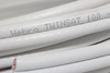 10m of White Webro WF100 Twin Satellite Cable With 4 x F Plugs, Free Cable Clips