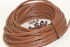 30m of Brown Webro WF100 Twin Satellite Cable With 4 x F Plugs, Free Cable Clips