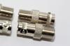4 x Zink Plated Metal F Female Socket to BNC Female Socket Straight Adaptor