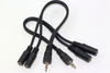 2 x 3.5mm 20cm Stereo Jack Audio Headphone Splitter Cable 1 x Male to 2 x Female