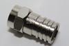 100 x Vision V17-101 Weatherproof Crimp Male F Plug Connector, RG6, WF100, CT100