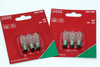 6 Pack Of Konstsmide 23V, 3W, E10, MES Spare Welcome Candle Bridge Light Bulbs