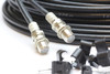 10m Twin Black Satellite Shotgun Coax Cable Extension Kit for Sky Plus, Sky HD, Freesat & 5 Special Masonry Cable Clips