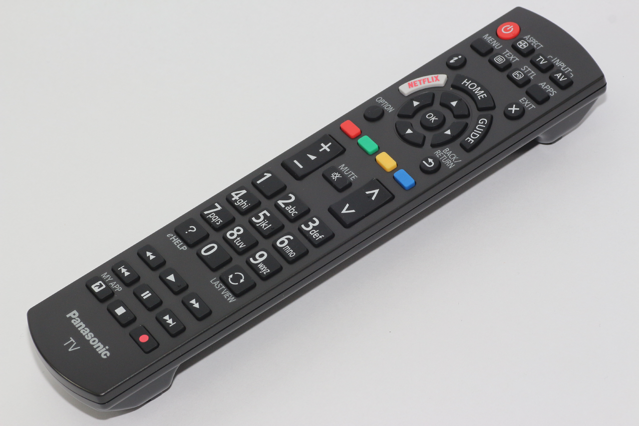 Panasonic Genuine N2QAYB001111 Television Remote Control With Netflix Button