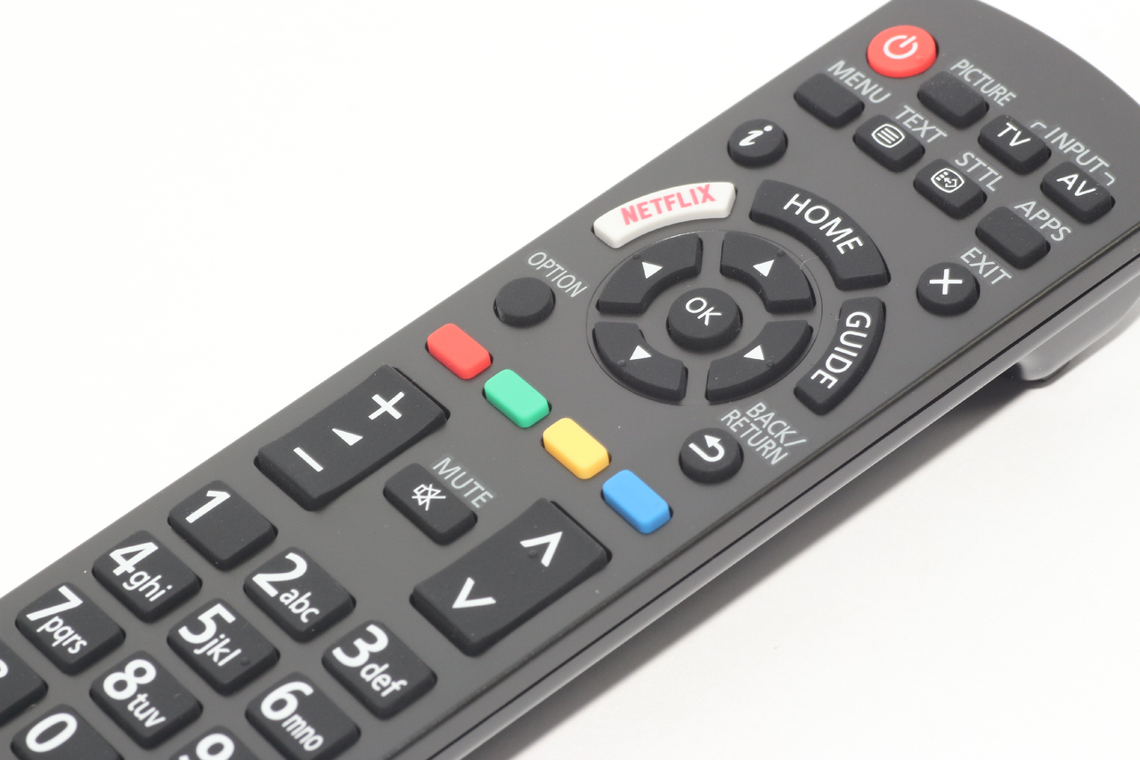 Panasonic N2QAYB001181 Original TV Remote Control, Netflix Button, Freeview  Play