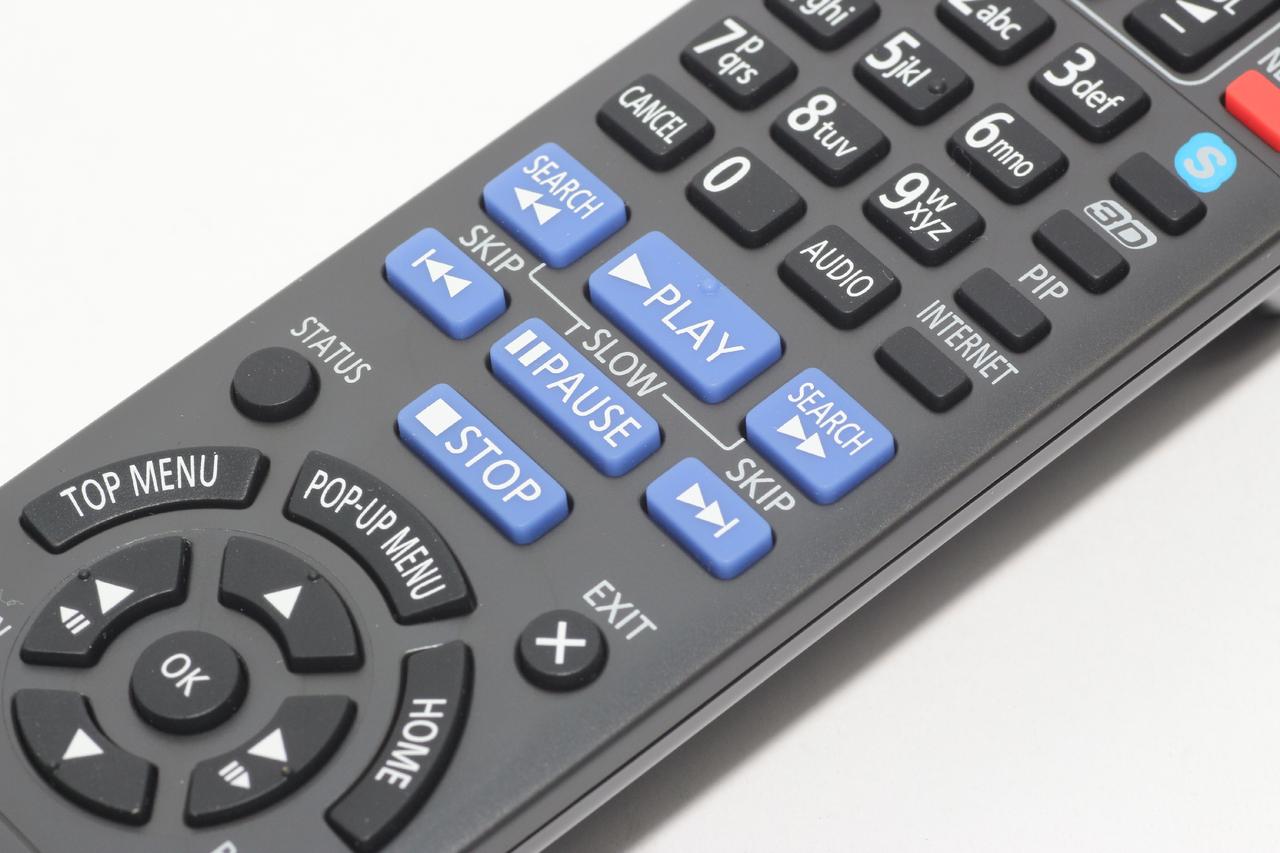 Panasonic N2QAYB000723 Genuine Blu Ray DVD Remote Control DMP-BDT120,  DMP-BDT220
