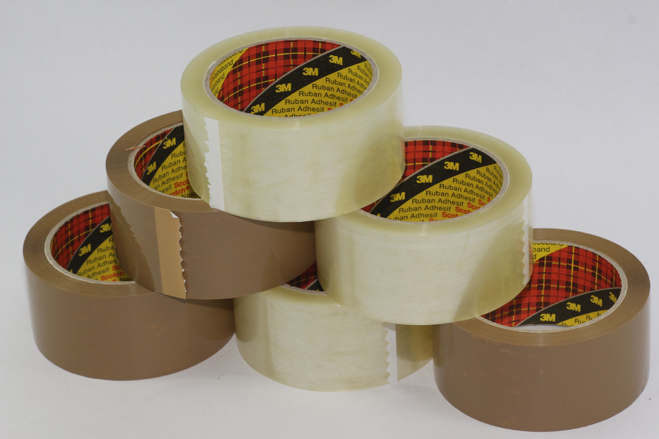 12 x Parcel Tape Rolls 48mm x 66m Scotch 3M Brown Packaging Packing Adhesive